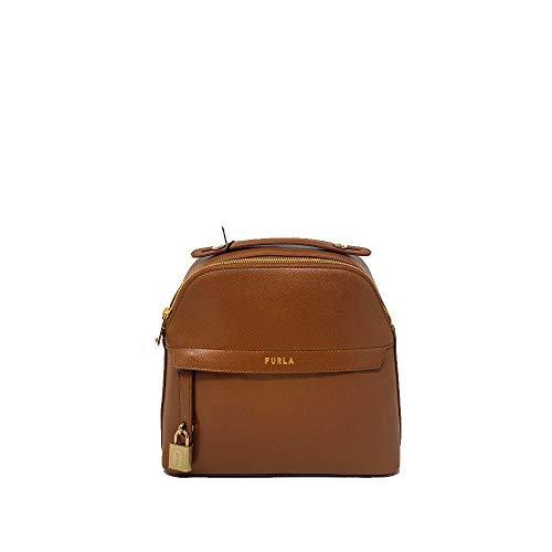 FURLA Rucksack Piper aus Leder Farbe Cognac 1060270