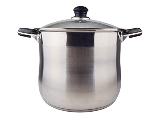 20 Quart Commercial Grade Stainless Steel High Stock Pot Non-Toxic Cookware Dishwasher Safe Heavy-Duty Encapsulated Bottom Stockpot Dutch Oven