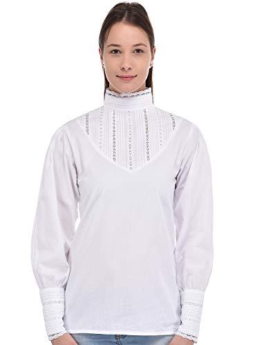 Cotton Lane Coton Blanc Dentelle Blouse Femmes