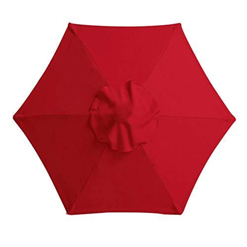 Happymore - Copertura di ricambio per ombrellone, 2 m, 6 bracce, copertura superiore per ombrellone da giardino, mantiene fresco, anti-ultravioletto, impermeabile