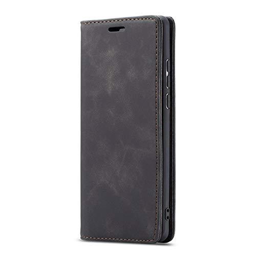 ZXMDP Funda magnética de Lujo para teléfono con Tapa para iPhone SE2020 11 12Pro MAX 8 7 6 6s, Negro, iPhone SE 2020