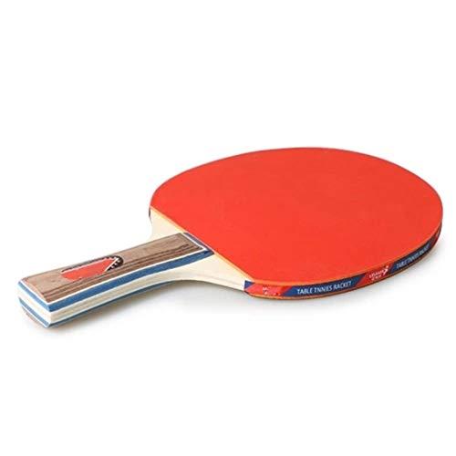 BTTNW Paleta De Ping Pong Tabla Tenis 2 Jugadores Set 2 Tabla de Penismo Bats Raquetas Se Dan La Mano Grips (Color : Red, Size : One Size)
