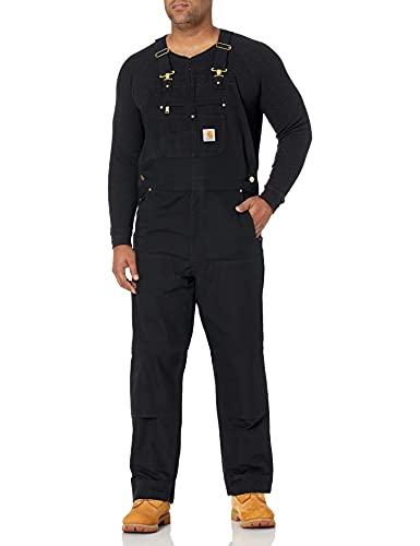 Carhartt Men s Relaxed Fit Duck Bib Overall, Black, 34 x 32