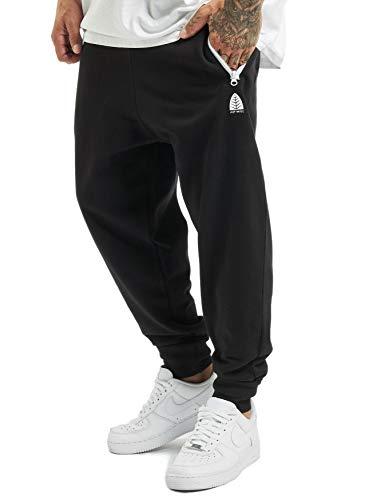 Just Rhyse Herren Jogginghose MOMO Urban Jogger Sweat Pants, Farben:Schwarz, Größe Hosen:S