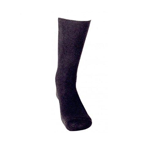 KLER 6309 - calcetin descanso hilo de escocia (G, NEGRO