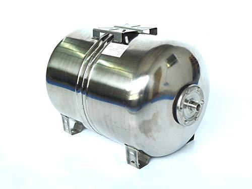 80 Liter Edelstahl Druckkessel INOX, Membrankessel für Hauswasserwerk. Max. Druck 8bar. Druckbehälter Abmessungen Kessel + Platte: H 47 cm L 62 cm D 44 cm.