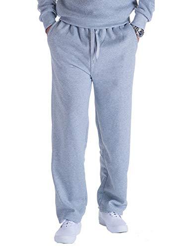 Hanway Sweat Pant Joggers for Men Fleece Basic Loose Running Lounge Pants Light Grey Medium