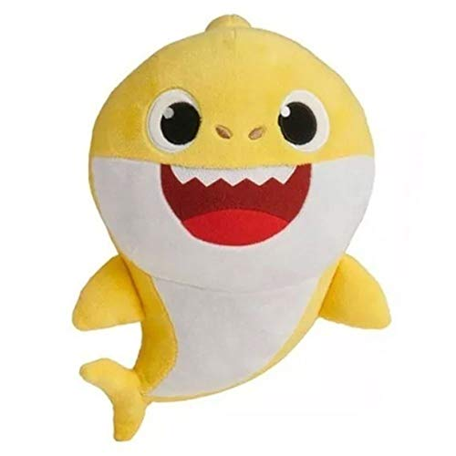 Pelúcia Baby Shark 25cm Amarelo Musical