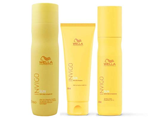 Wella Invigo Sun Shampoo 250 ml+ Conditioner 200ml+Protection Spray 150ml
