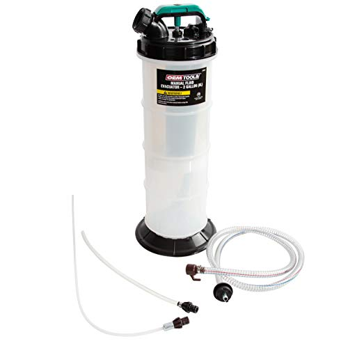 OEM TOOLS 24936 8.0 Liter Evacuator | Oil, Transmission, Coolant Change Tool | Easy-to-Use Hand Pump | Extract Fluid Through Dipstick Tubes | No-Mess | Shut-Off Valve Prevents Spills