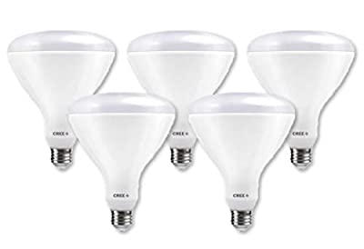 Cree Lighting, TBR40-18050FLFH25-12DE26-1-E1-MP, BR40 Indoor Flood 120W Equivalent LED Bulb, 1750 lumens, Dimmable, Daylight 5000K, 25,000 hour rated life, 90+ CRI   5-Pack