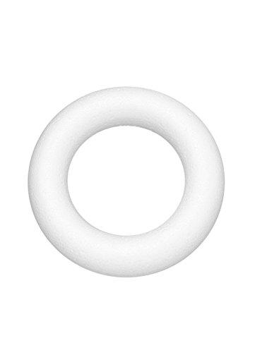 Glorex Styroporring, Styropor, Weiß, 12 x 12 x 2 cm