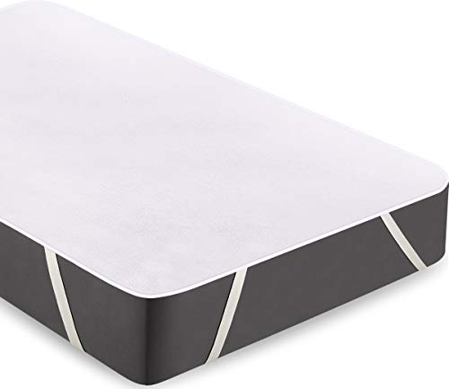 Utopia Bedding Terry Waterproof Mattress Protector - Breathable Cotton Top Mattress Cover with Elastic Corner Straps (90 x 200 cm, Single)