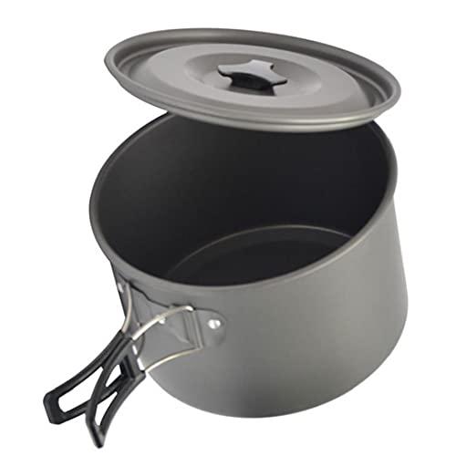 Que Cocina La Comida Campestre Pot Cookware Que Acampa Pot Ultraligero Vajilla Utensilios De Senderismo con Mochila De Picnic M
