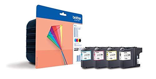 Brother LC223VALBP - Cartucho de tinta, multi-pack (negro, amarillo, magenta, cian)