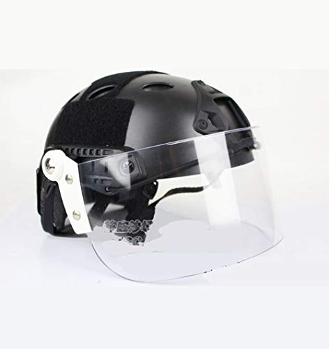 Gafas tácticas Flip Up antidisturbios Máscara visera para Mich FAST Casco Paintball Airsoft