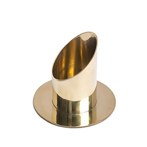 Halvljus ljus 10 cm hög ljushållare för stumpar upp till Ø 5 cm mässingslampa dop kommunion bröllop 2825