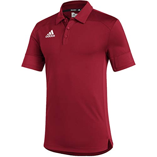 adidas Under The Lights Coaches Polo - Men's Multi-Sport S Team Power Red/White