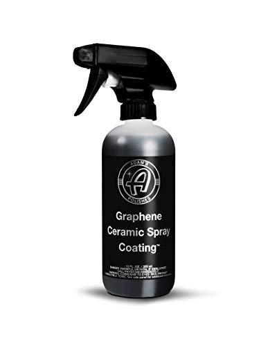 Adam's UV Graphene Ceramic Spray Coating – A True Graphene Spray W/UV Tracer Technology - Easy-to-Use & Stronger Than Car Wax Polish or Top Coat Polymer Paint Sealant for Car, Boat, RV, Truck (12 Oz)