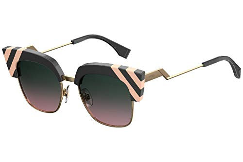 Fendi FF0241 / S Gafas de Sol w/Verde Rosa 50mm Lente KB7JP FF0241S FF FF 0241S 0241 / S Mujer Gris Grande
