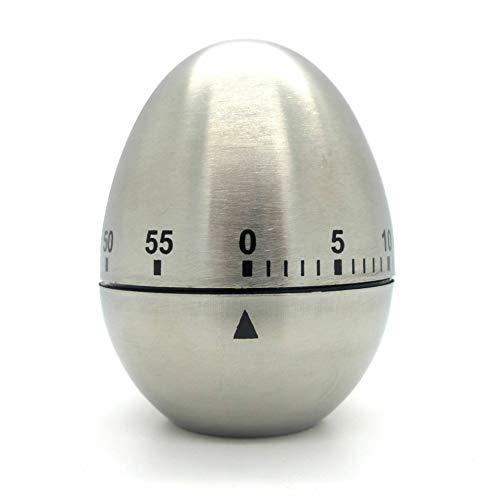 Starlet24 - Timer da cucina a forma di uovo, in acciaio INOX