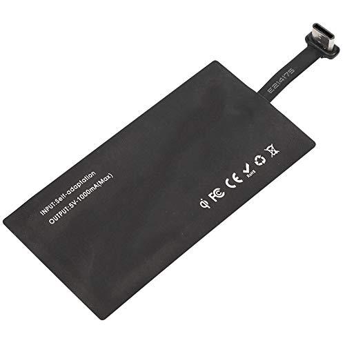 Receptor de carga inalámbrico tipo C Receptor de cargador inalámbrico USB QI para teléfono inteligente con interfaz tipo C, para P9 Plus, Nexus 6P 5X, Honor V8, para G5/G6, para 4C 4S 5, para Pro5 Pro