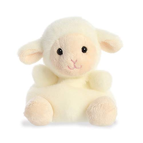 Aurora Palm Pals, Woolly The Lamb, Juguete Suave, 33483, 5 Pulgadas, Color Blanco