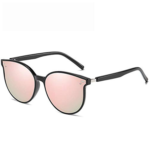 Unisex Trendy Sunglasses Fashionable Tones Driving Lightweight Fishing 100% UV Sports Outdoors Sunglasses 100% UV for Male Female (Color : Pink, Size : Casual Size)