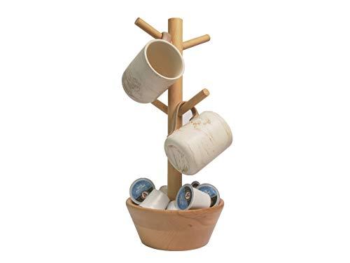 Almanor Goods Mug Tree with Coffee Pod Bowl Coffee Mug Holder Rack for Counter