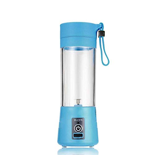 CCAN HUHN Fully Automatic Fruit and Vegetable Juicer, Juicer Outdoor Household Mini Charging Juicer Blue