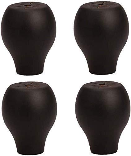 DERUKK-TY X4 Furniture Feet Patas de Mesa de Madera Maciza, Patas de Silla de Madera, Patas de elevación de sofá de Mesa de Centro, 600 kg de Carga, con Accesorios (Color: C, Tamaño: 20x42x27mm)