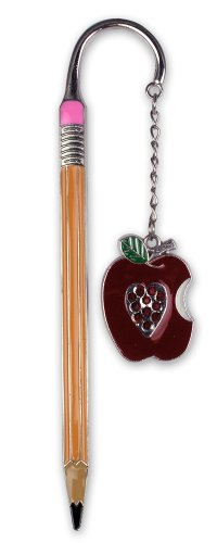 Teacher Bookmark - Apple Bookmark with Jewels - Pencil Bookmark - Teacher Gift - Gifts for a Teacher - Back to School