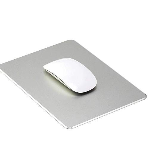 HOTSO Tappetino per Mouse Alluminio Tappetini per Mouse da Gioco Mousepad con Base in Gomma Antiscivolo e Impermeabile per Computer PC Laptop