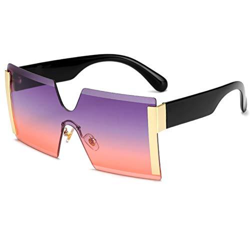 SHEANAON Gafas de Sol cuadradas para Adultos Gafas de Sol de plástico para Hombres Gafas de Sol de Moda con Lentes de Color para Mujeres Gafas de Sol Océano