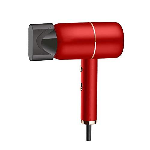 2021 nuevo secador de pelo de iones de sodio de colágeno de iones negativos de luz azul secador de pelo de temperatura constante inteligente universal-rojo