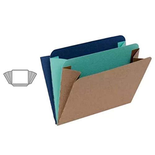 Lai-LYQ Stanzmaschine Stanzschablone, Empfindliche Tasche Scrapbooking Prägeschablonen Handwerk Papier Deko Festival Karten Geschenk