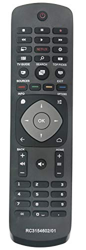 ALLIMITY RC3154602 01 398GR08BEPH06R Telecomando Sostituito per Philips Slim UHD 4K Android TV with Netflix 40PUT6400 50PUT6400 55PUT6400 40PFK5500 40PFT5500 40PUT6400 48PFK5500 48PFT5500