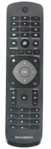 ALLIMITY RC3154602/01 398GR08BEPH06R Fernbedienung Ersetzt für Philips Slim UHD 4K Android TV with Netflix 40PUT6400 50PUT6400 55PUT6400 40PFK5500 40PFT5500 40PUT6400 48PFK5500 48PFT5500