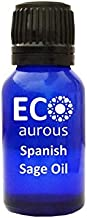Spanish Sage Oil (Salvia lavandulifolia) 100% Natural, Organic, Vegan & Cruelty Free Spanish Sage Essential Oil | Pure Spanish Sage Oil By Eco Aurous (10 ml)