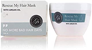 Rescue My Hair Mask | Intensive Hydrating & Moisturizing Deep Conditioner Hair Treatment for Dry, Damaged Hair with Moroccan Argan Oil & Sunflower Oil | PARABEN, CRUELTY & SULFATE FREE | 300g / 10.5oz