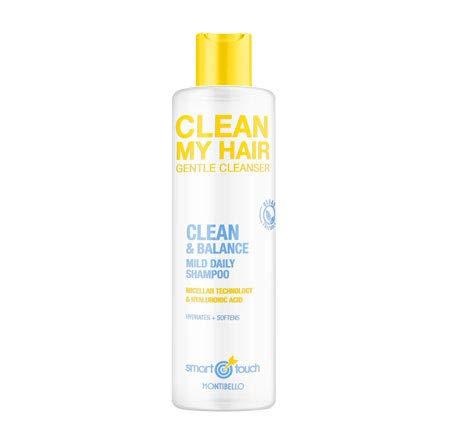 Montibello Smart Touch Clean My Hair Champú 1000 ml, Blanco, 1000ml
