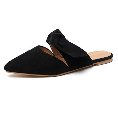 TWIFER Pantoletten Damen Slipper Bow Hausschuh Große Damenschuhe Strand Pantoffeln