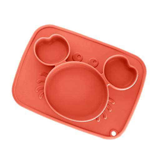NEWMAN771Her Babyschalen zum Absetzen, Silikon-Saugteller Kinder-Trennplatte Lernen Essen Training Ergänzende Futternapf