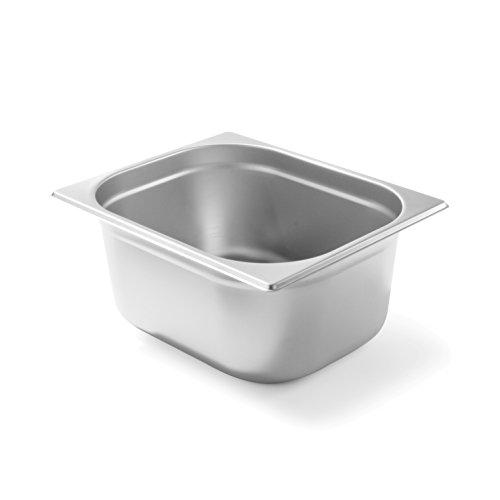 HENDI Gastronormbehälter, Temperaturbeständig von -40° bis 300°C, Heissluftöfen-Kühl- und Tiefkühlschränken-Chafing Dishes-Bain Marie, 9,5L, GN 1/2, 325x265x(H)150mm, Edelstahl