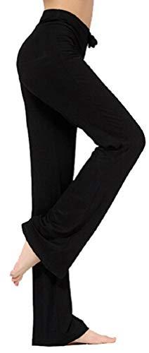 NB, pantaloni della tuta da donna, con coulisse, per yoga, corsa, jogging Nero  L