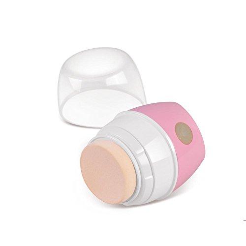 2017 NOUVELLE Fondation applicateur maquillage électrique 3D Vibration BB Cream Puff cosmétiques beauté outil Powder Puff , white