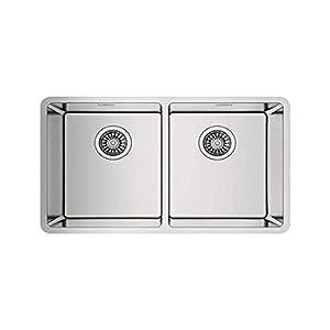 Teka 115030007 Linea RS15 2B 740 3½ W/OVF SP-115030007 – Fregadero de cocina (acero inoxidable, con doble tazón), color…