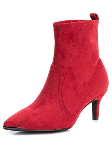 XTI Damen 35104 Kurzschaft Stiefel, Rot (Rojo Rojo), 37 EU