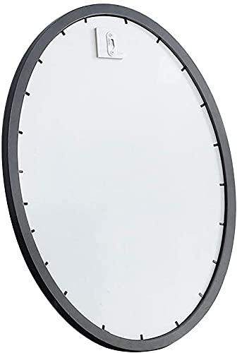 Qjkmgd Espejo, baño, Montaje en la Pared, tocador, Espejos ovalados, Montado en la Pared Mirror de Hmakeup de Montaje en Pared para vestidor o baño, Negro, 51 × 66cm (Color : Black, Size : 35×50Cm)