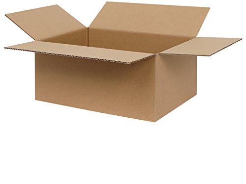 300 Faltkartons 300 x 215 x 140 mm | Versandkartons geeignet für Versand mit DPD, Hermes und GLS | 1-welliger Karton